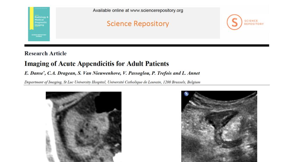 article appendicite 2018 groupe abdominal